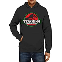 Teeland Hoodie Dinosaur T Rex Teaching is A Walk in The Park Men Women Sweater