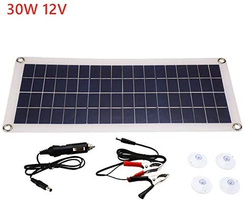 30W Solar Panel USB 12V Monokristalline Zelle 10A Solar-Laderegler Für Batterie Handy-Ladegerät Mit Batterie-Clip