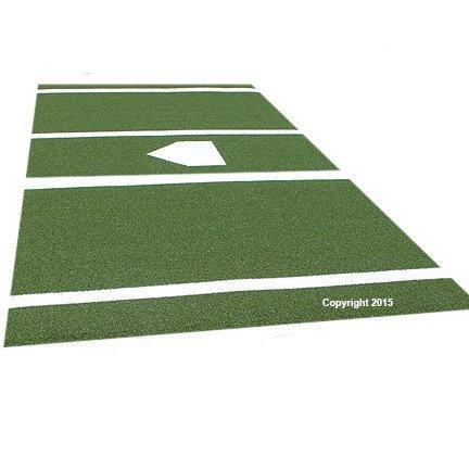 Premium 12' X 6' Baseball/Softball Hitting Mat in Green- Urethane Backing