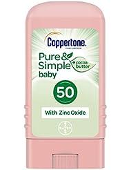 Coppertone WaterBABIES Sunscreen Pure & Simple Stick Broad Spectrum SPF 50, .49 Ounces