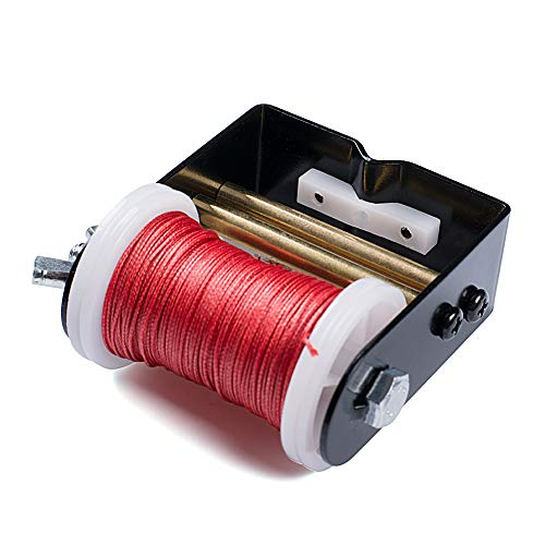 Chuangtong Bow String Serving Jig Bow String Serving Thread 30 Meter/Roll 0.021 Diameter forVarious Bows (CT017,Red Serving Thread +Jig)