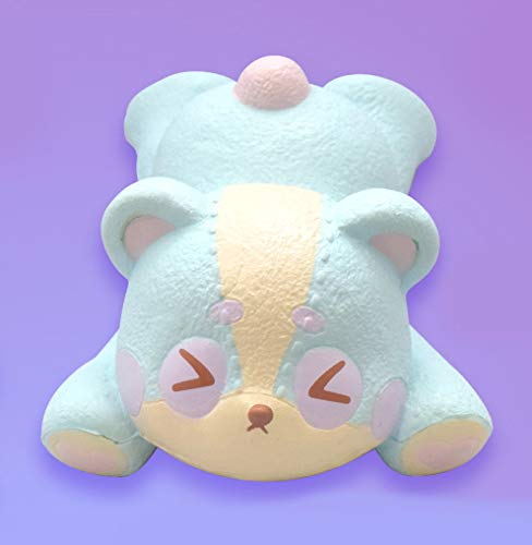 ibloom Slow Rising [Squishy Collection] Harajuku Bear Squishy Kids Cute Adorable Doll Stress Relief Toy Decorative Props [Moo]