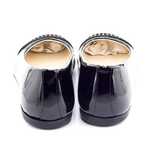 Boni Classic Shoes - Bailarinas de cuero Niña Vernis Noir