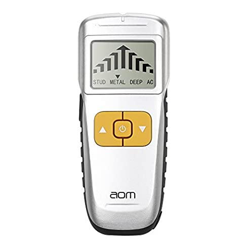 aom 4 in 1 Multi-Scanner Wall Stud Finder, Electronic Sensor Detector with Sound Warning for AC Wire, Metal,Studs, Wood, Deep