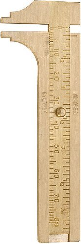 (Sliding Brass Millimeter Gauge - Measuring Beads and Jewelry)