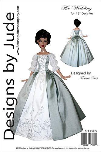 "Outlander Wedding Dress Doll Clothes Printed Sewing Pattern for 16"" Deja Vu Dolls Tonner"