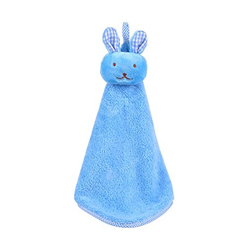 BabyBasics123 by Maxwell Brandt Unisex Plush Terry Cloth Blue Bunny Soft Security Blanket for Infant & Toddler Boy or Girl (Danny The Funny Blue Bunny Blankie)