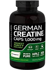 Creapure German Creatine 1000 Mg (300 Capsules) - Contains Only Pure Creapure Creatine Monohydrate - No Fillers, Binders, or Excipients