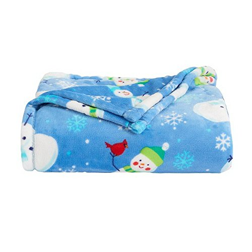 The Big One Oversized Plush Throw (Snowman V2) - 5ft x 6ft Super Soft and Cozy Micro-Fleece Blanket for couch or bedroom