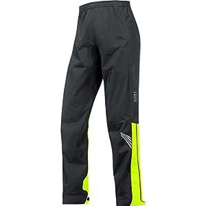 GORE BIKE WEAR Men's Long Cycling Rain Overpants, GORE-TEX Active, ELEMENT GT AS Pants, Size XL, Black/Neon Yellow, PGMELE
