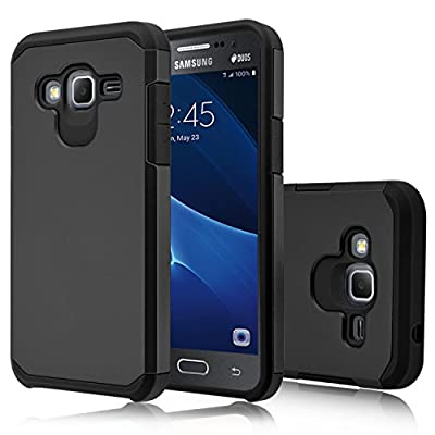 Galaxy J3 V Case, Galaxy J3 Case (2016), Venoro [Shockproof] Armor Hybrid Defender Rugged Protective Case Cover For Samsung Galaxy J3 / Express Prime / Amp Prime by Venoro