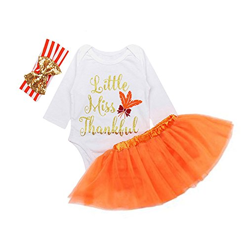 Little Miss Princess Tutu - OUTGLE Newborn Baby Girl Romper + Tutu Skirt + Headband Clothing Set Outfits (6-9 Months)