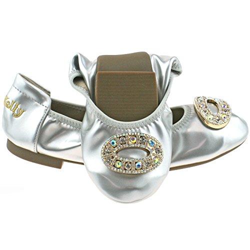 Lelli Kelly LK4106 (AH01) Argento Patent Magiche Shoes-27 (UK 9)