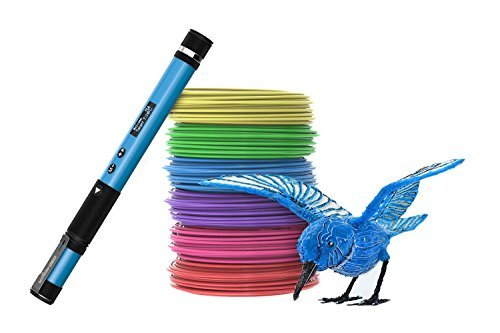 Scribbler 3D Pen Nano The Smalles 3D Printing Pen Available, Draw in the air with most developed 3D pen - 3D Drawing Pen with OLED Screen, 3D Drawing Pen For Hobbyists, Crafters and Artist (Blue)