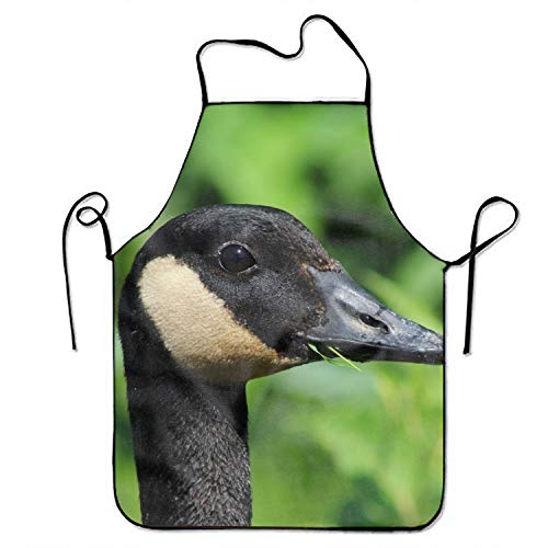 Peninsula Stylish Animal Canada Goose Birds Cooking Apron Kitchen Apron, Lock Edge Waterproof Durable String Adjustable Easy Care Aprons for Women Men Chef ()