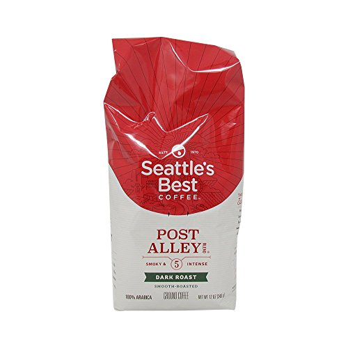 Seattles Best Blend Coffee (Seattle's Best Ground Coffee Post Alley No.5 Dark Roast Blend Smoky and Intense 12 Ounce Bags (3 Pack))
