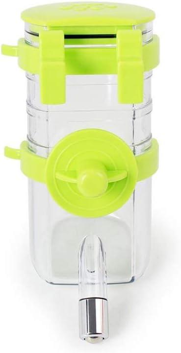 AAGOOD Sin Chew Goteo Prueba Botella de Agua para Mascotas Colgando automática de Agua Potable para Mascotas Pet Titular Alimentadores Bebedor de Agua 350ML de Verde