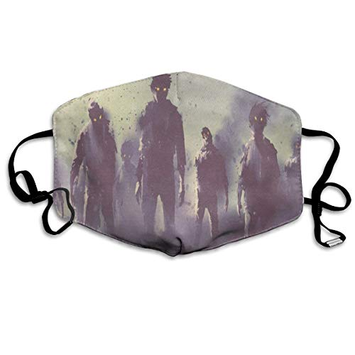 Custom Mouth Mask Anti-Dust Zombies Crowd Walking At Night Face Mask Breathable Mask With Adjustable Ear-loop Windproof And Warm
