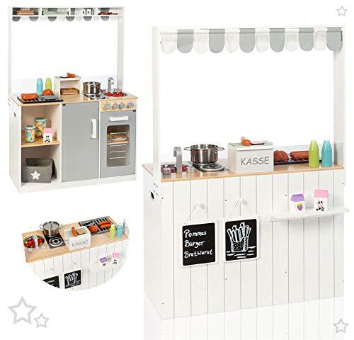 Kinderküche für Zwillinge - Sun Küchen- & Kaufladen-Kombi - Kinderküche und Kaufladen in einem