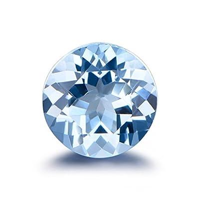 6mm Round Cut Aquamarine Loose Gemstone Natural Genuine Light Blue Gemstones  AAA Clarity 1pcs