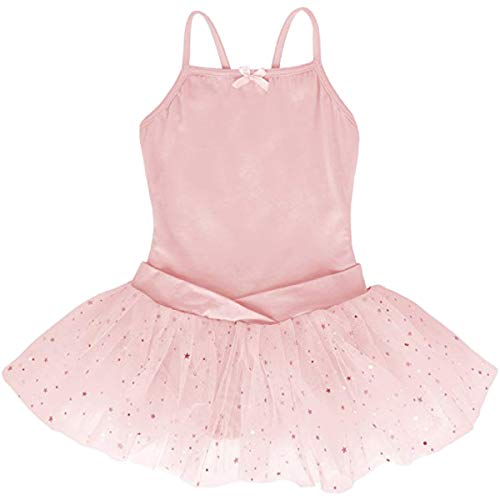 Dancina Leotard Camisole Ballet Tutu Dress Future Ballerina Dance Class Birthday Gift Outfit 3 Ballet Pink by Dancina