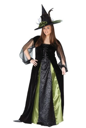 Plus Elegant Witch (Fun World Women's Goth Maiden Witch Adult Costume, Multi, Plus Size)