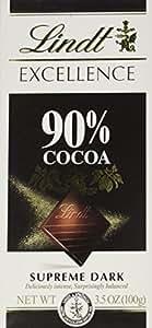 Lindt Excellence 90% Cocoa Bar, Supreme Dark 3.5 oz.