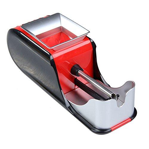 Cigarette Rolling Machine Cigarette Injector Automatic Tobacco Roller for Regular(84mm) Kings Size Filtered Cigarettes, Density-Adjustable (Red) ()