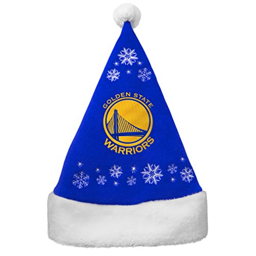NBA Golden State Warriors Full Embroidered Snowflake Santa Hat