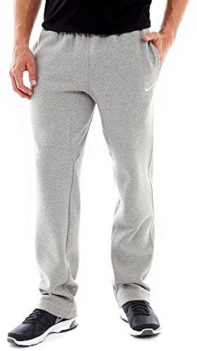 Nike Club Swoosh Men's Fleece Sweatpants Pants Classic Fit - Medium - Light Heather Grey