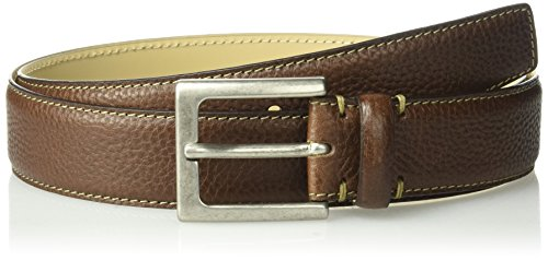 Tommy Bahama Men's 1.5 in. Genuine Italian Pebbled Leather Belt, Brown, 38