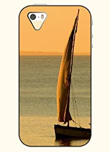 OOFIT Phone Case Design with Sailing Boat and Sea for Apple iPhone 5 5s 5g by icecream design