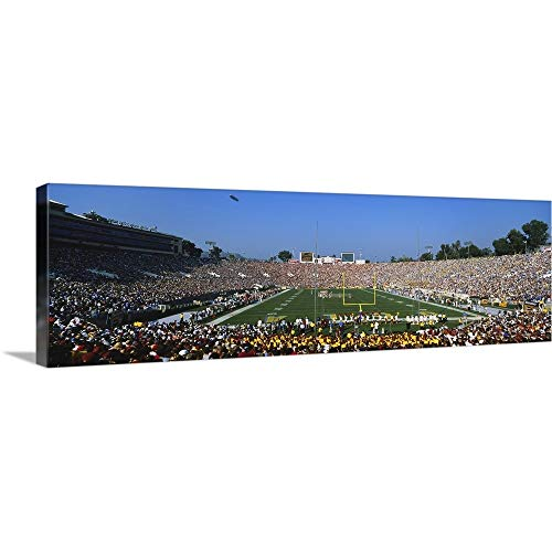 GREATBIGCANVAS Gallery-Wrapped Canvas Entitled Football Stadium Full of Spectators, The Rose Bowl, Pasadena, City of Los Angeles, California by - Pasadena California Rose Bowl