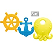 Mayapple Baby - Suri the Octopus and Friends Teether - 3 Silicone Teething Toys - Lemon Set - Award-winning, Patented