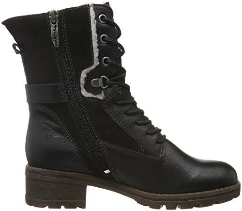 Tamaris 26225, Botas Militar para Mujer Negro (BLACK 001)