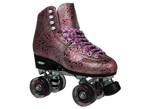 Epic Skates Sparkle High-Top Quad Roller Skates (Renewed)