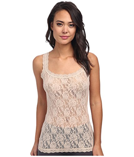 (Hanky Panky Women's Signature Lace Unlined Cami Chai Tank Top SM)