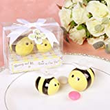 BST Wedding Favors Mommy and Me...Sweet As Can Bee Ceramic Honeybee Salt & Pepper Shakers