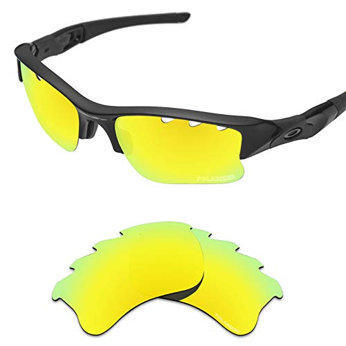 Tintart Performance Replacement Lenses for Oakley Flak Jacket XLJ Vented Sunglass Polarized Etched-Golden Yellow