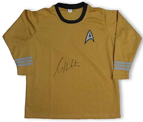 William Shatner Captain Kirk Star Trek Uniform Shirt Signed Certified Authentic Beckett BAS COA