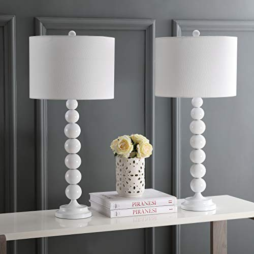Safavieh Lighting Collection Jenna White 31.5-inch Stacked Ball Lamp (Set of 2)