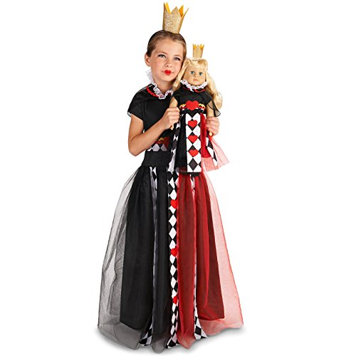 Queen of Hearts Child Costume M (8-10) with Matching 18