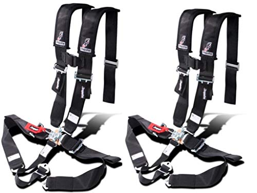 Set of 2 Dragonfire Racing Black 5-Point SFI Appoved Race Harness Black 3