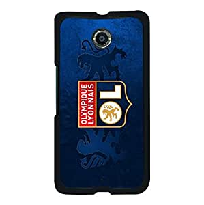 Classical Design Olympique Lyonnais Football Club Phone Case for Google Nexus 6 OL Lyon FC Logo Hard Phone Shell Case