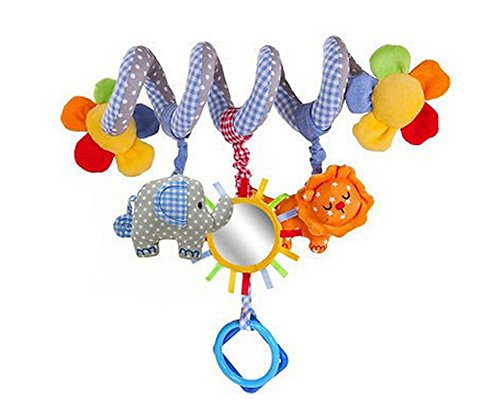 Spiral Activity Toy Hanging Baby Rattle Toys for Crib