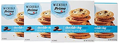 Wickedly Prime Crispy Chocolate Chip Cookies, 14ct (Pack of 4) by Wickedly Prime