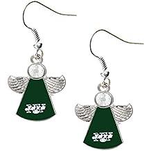 NFL womens NFL Sports Team Logo Crystal Angel Wings Dangle Earring Set