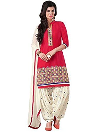 bfc2640176 Lady Loop Women's Cotton Salwar Suit (LLDM-23_Beige_Free Size): Amazon.in:  Clothing & Accessories