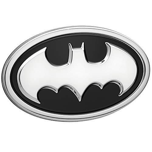 Fan Emblems Batman Logo 3D Car Emblem Black/Chrome,