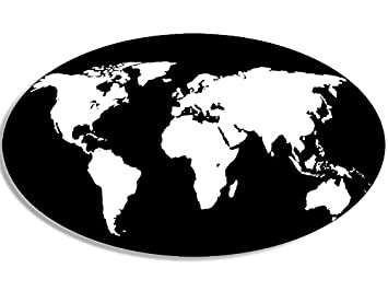Amazon oval world map sticker earth globe mapping travel oval world map sticker earth globe mapping travel gumiabroncs Image collections